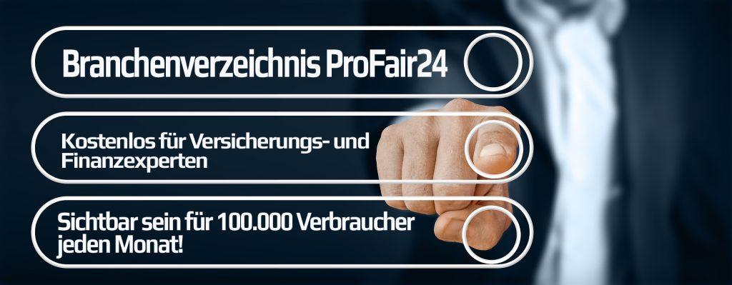 ProFair24 das Fachportal für Versicherungen und Finanzen Besuchen Sie unser neues Fachportal für Versicherungsvermittler in Ihrer Region und vergleichen Sie die Angebote!