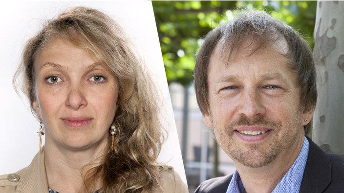 Moderatoren auf der deutschen Seite: Katja Garmasch und Stephan Stuchlik © WDR/Annika Fußwinkel/Ludolf Dahmen