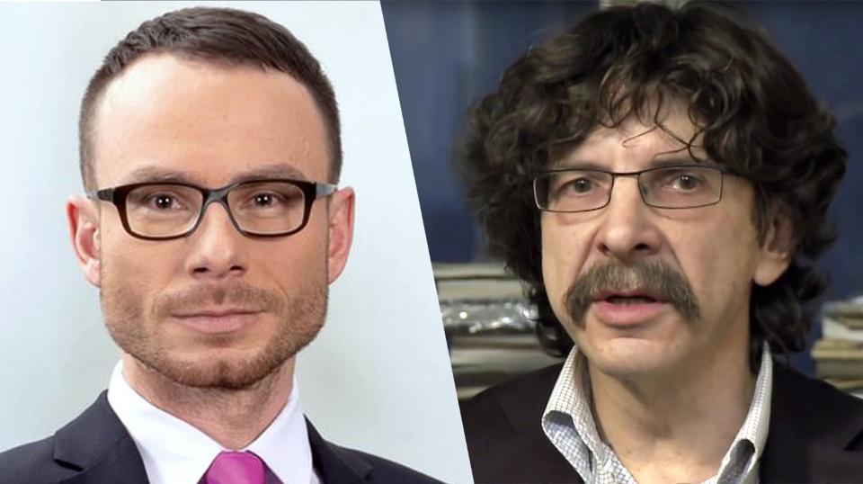 Moderatoren auf der russischen Seite: Juri Rescheto und Sergej Buntman © WDR/DW/youtube
